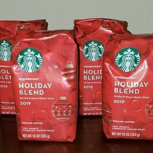 Starbucks holiday blend 2019 ground coffee 4 packs